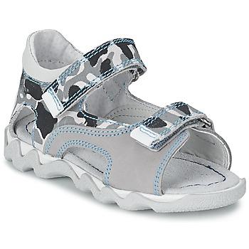 Παπούτσια Αγόρι Σανδάλια / Πέδιλα Citrouille et Compagnie MISQUINE άσπρο / Military