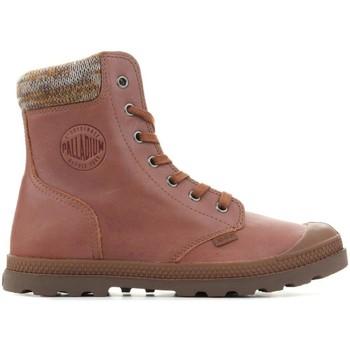 Παπούτσια Γυναίκα Μπότες Palladium Pampa Knit LP F 95172-733-M brown