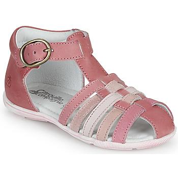 Παπούτσια Κορίτσι Σανδάλια / Πέδιλα Citrouille et Compagnie VISOTU Ροζ / Multicolore