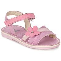 Παπούτσια Κορίτσι Σανδάλια / Πέδιλα Citrouille et Compagnie VIZIEL Violet / ροζ