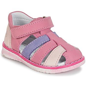 Παπούτσια Κορίτσι Σανδάλια / Πέδιλα Citrouille et Compagnie FRINOUI Lilas / Ροζ / Fuchsia