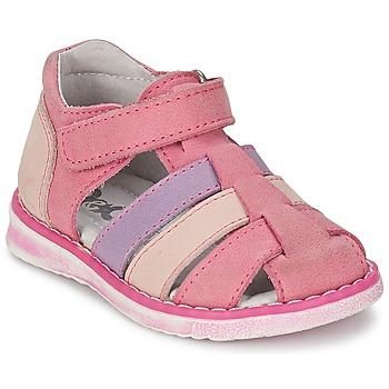 Παπούτσια Κορίτσι Σανδάλια / Πέδιλα Citrouille et Compagnie CHIZETTE Lilas / Ροζ / Fuchsia