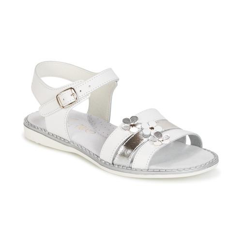 Παπούτσια Κορίτσι Σανδάλια / Πέδιλα Citrouille et Compagnie KATAGUE άσπρο