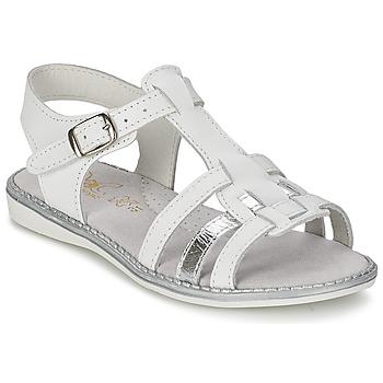 Παπούτσια Κορίτσι Σανδάλια / Πέδιλα Citrouille et Compagnie ROLUI άσπρο
