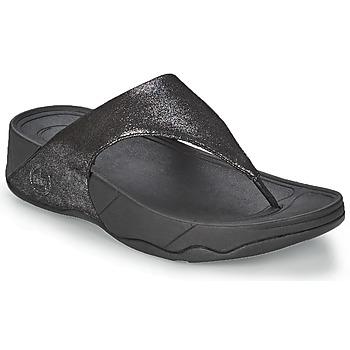 Παπούτσια Γυναίκα Σαγιονάρες FitFlop LULU SUEDE Black