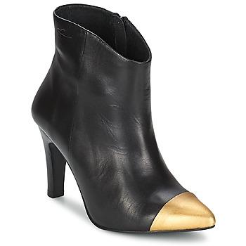 Παπούτσια Γυναίκα Μποτίνια Pastelle ARIEL Μαύρο-χρυσό