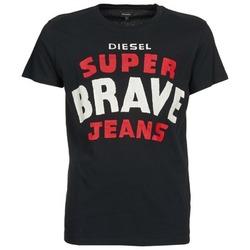 Υφασμάτινα Άνδρας T-shirt με κοντά μανίκια Diesel T-ASTERIOS Black