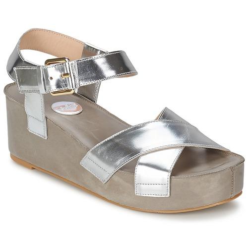 Παπούτσια Γυναίκα Σανδάλια / Πέδιλα RAS NIOBE Argenté