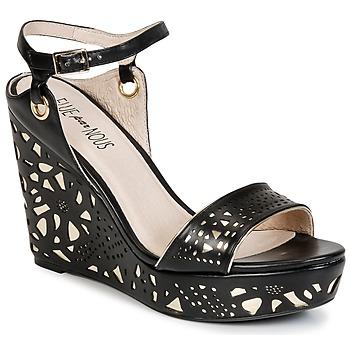 Παπούτσια Γυναίκα Σανδάλια / Πέδιλα Elue par nous RIAZONE Black