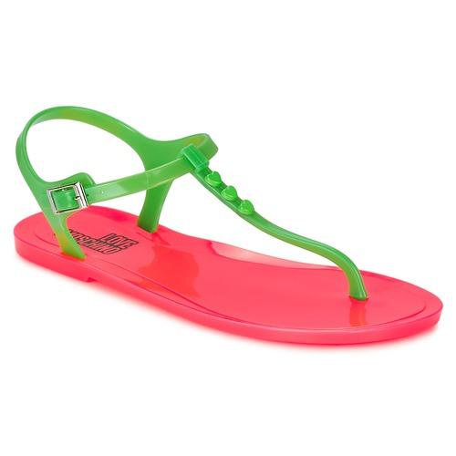Παπούτσια Γυναίκα Σανδάλια / Πέδιλα Love Moschino JA16381G0KJN180A Green / Ροζ