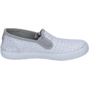 Παπούτσια Γυναίκα Slip on Cienta slip on bianco tessuto argento profumate BX350 Bianco