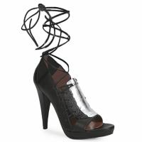 Παπούτσια Γυναίκα Σανδάλια / Πέδιλα Sigerson Morrison STRUZZO Black / Argenté