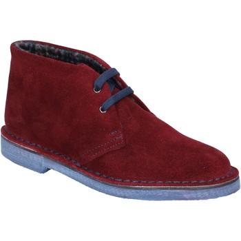 Παπούτσια Γυναίκα Χαμηλές Μπότες Italiane By Coraf ITALIANE stivaletti bordeaux camoscio BX657 Rosso