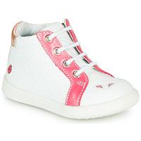 Παπούτσια Κορίτσι Ψηλά Sneakers GBB FAMIA Vte / ΑΣΠΡΟ-ΚΟΡΑΛΙ / Dpf / Messi