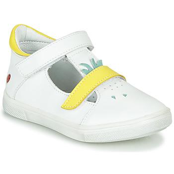 Παπούτσια Κορίτσι Μπαλαρίνες GBB ARAMA Vte / ΛΕΥΚΟ - ΚΙΤΡΙΝΟ / Dpf / Trilly
