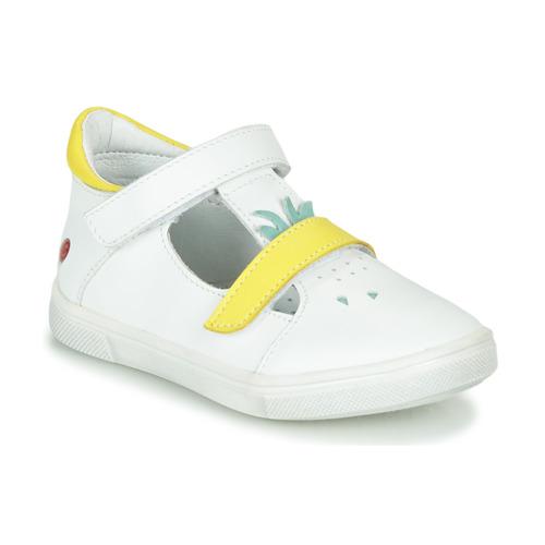 Παπούτσια Κορίτσι Ψηλά Sneakers GBB ARAMA Vte / ΛΕΥΚΟ - ΚΙΤΡΙΝΟ / Dpf / Trilly
