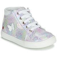 Παπούτσια Κορίτσι Ψηλά Sneakers GBB MEFITA Silver / Ροζ