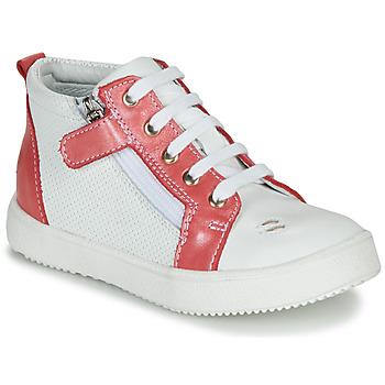 Παπούτσια Κορίτσι Ψηλά Sneakers GBB MIMOSA Άσπρο / Ροζ