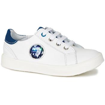 Παπούτσια Αγόρι Χαμηλά Sneakers GBB URSUL Vte / Ασπρο-μπλε / Led / Dpf / 2706