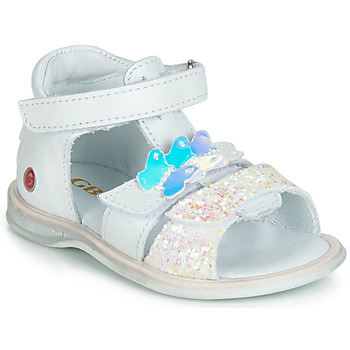 Παπούτσια Κορίτσι Σανδάλια / Πέδιλα GBB MESTI Άσπρο / Silver