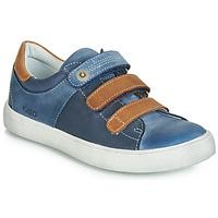 Παπούτσια Αγόρι Χαμηλά Sneakers GBB POMMOR Μπλέ / Brown