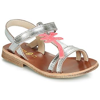 Παπούτσια Κορίτσι Σανδάλια / Πέδιλα GBB SAPELA Silver / Ροζ