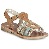 Παπούτσια Κορίτσι Σανδάλια / Πέδιλα GBB FANNI Cognac / Gold