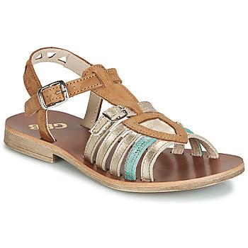 Παπούτσια Κορίτσι Σανδάλια / Πέδιλα GBB FANNI Brown / Gold