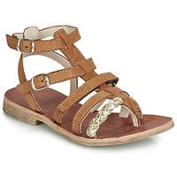 Παπούτσια Κορίτσι Σανδάλια / Πέδιλα GBB NOVARA Cognac / Gold