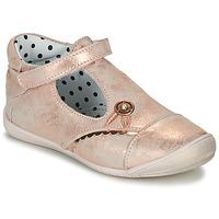 Παπούτσια Κορίτσι Μπαλαρίνες Catimini SANTA Vte / Ροζ / Dore / Dpf / Kezia