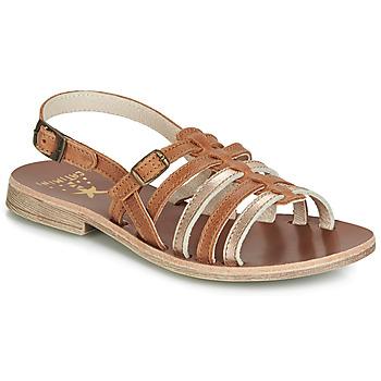 Παπούτσια Κορίτσι Σανδάλια / Πέδιλα Catimini NOBO Cognac / Gold