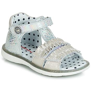 Παπούτσια Κορίτσι Σανδάλια / Πέδιλα Catimini BIRA Silver / Beige
