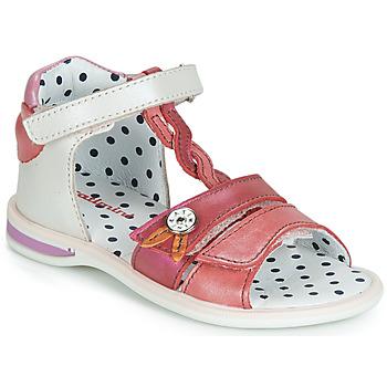 Παπούτσια Κορίτσι Σανδάλια / Πέδιλα Catimini GOROKA Άσπρο / Red