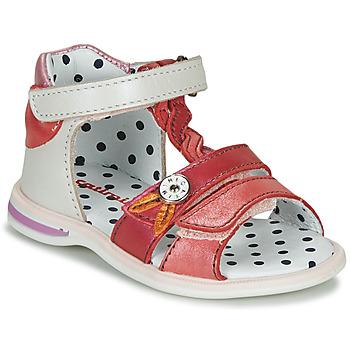Παπούτσια Κορίτσι Σανδάλια / Πέδιλα Catimini GOROKA Άσπρο / Ροζ
