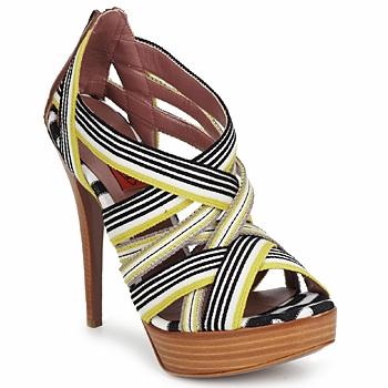 Παπούτσια Γυναίκα Σανδάλια / Πέδιλα Missoni RM20 Yellow / Άσπρο