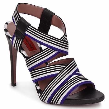 Παπούτσια Γυναίκα Σανδάλια / Πέδιλα Missoni RM19 Μπλέ / Άσπρο
