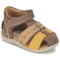 Παπούτσια Αγόρι Σανδάλια / Πέδιλα Kickers BIGBAZAR Brown / Beige / Yellow