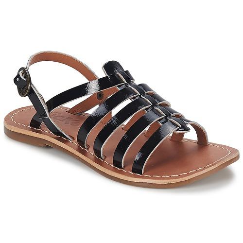Παπούτσια Κορίτσι Σανδάλια / Πέδιλα Kickers DIXMILLION Black / VERNIS
