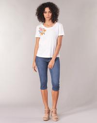 Υφασμάτινα Γυναίκα Κοντά παντελόνια Yurban JATARA Μπλέ / Medium