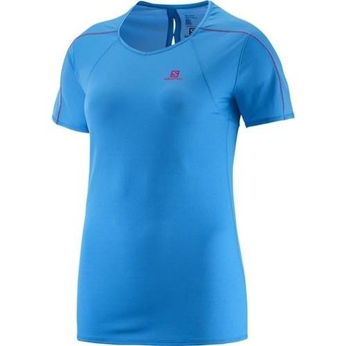 Υφασμάτινα Γυναίκα T-shirt με κοντά μανίκια Salomon Minim Evac Tee W 371146 blue