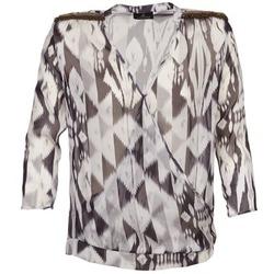 Υφασμάτινα Γυναίκα Μπλούζες One Step CREPUSCULE Grey / Άσπρο