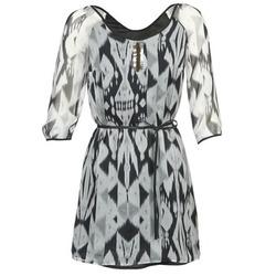 Υφασμάτινα Γυναίκα Κοντά Φορέματα One Step ROSASITE Grey / Άσπρο