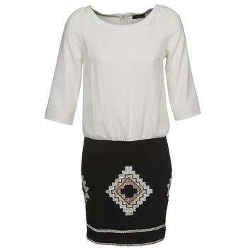 Υφασμάτινα Γυναίκα Κοντά Φορέματα One Step RAMBOUTAN Άσπρο / Black