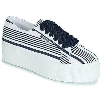 Παπούτσια Γυναίκα Χαμηλά Sneakers Superga 2790 COT MULTI STRIPE W Άσπρο