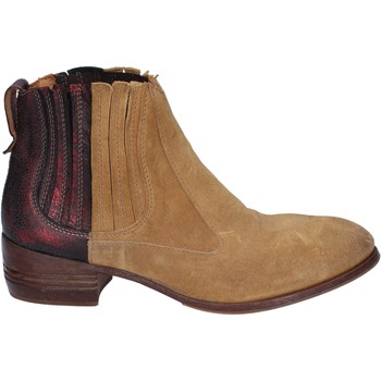 Μποτάκια/Low boots Moma tronchetti beige camoscio bordeaux pelle BT18