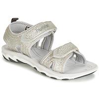 Παπούτσια Κορίτσι Σανδάλια / Πέδιλα Hummel SANDAL GLITTER JR Silver