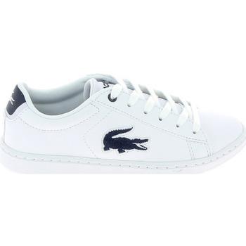 Παπούτσια Παιδί Χαμηλά Sneakers Lacoste Carnaby Evo C Blanc Bleu Άσπρο