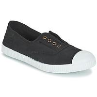 Παπούτσια Γυναίκα Χαμηλά Sneakers Victoria INGLESA ELASTICO TINTADA Black