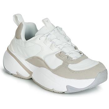 Παπούτσια Γυναίκα Χαμηλά Sneakers Victoria AIRE NYLON/SERRAJE PU Άσπρο
