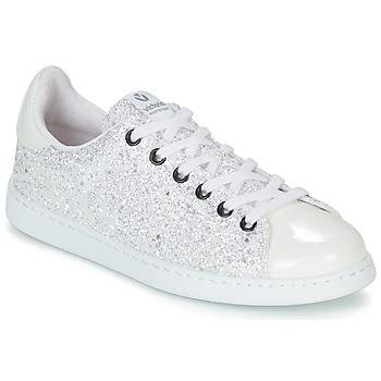 Παπούτσια Γυναίκα Χαμηλά Sneakers Victoria TENIS GLITTER Άσπρο